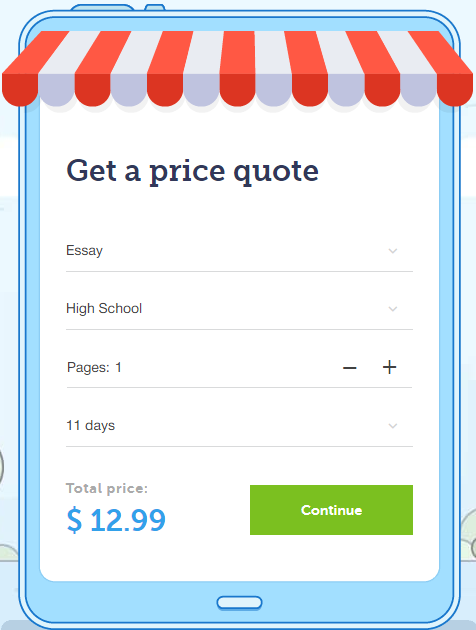 essaywritingstore price calculator
