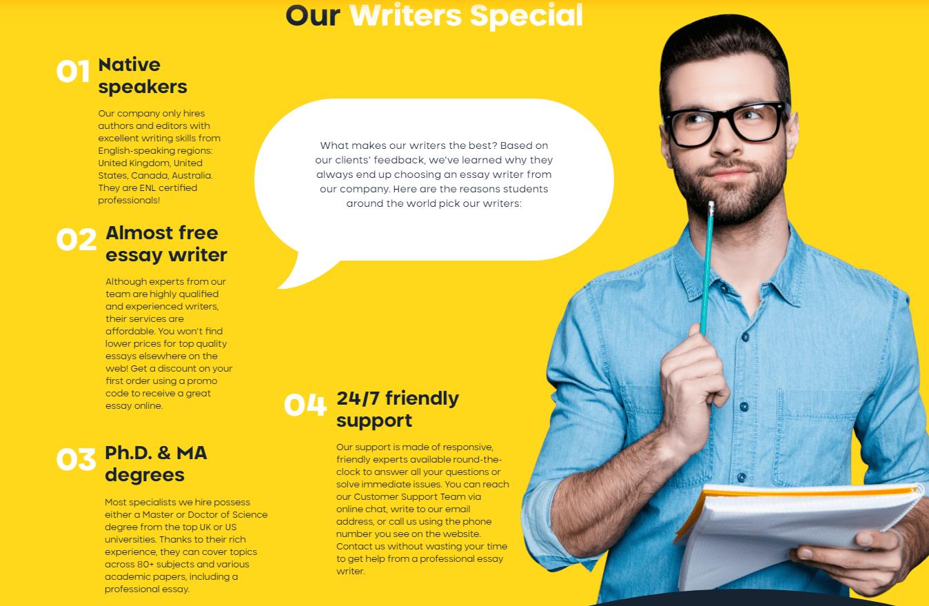 pro-essay-writer.com Advantages