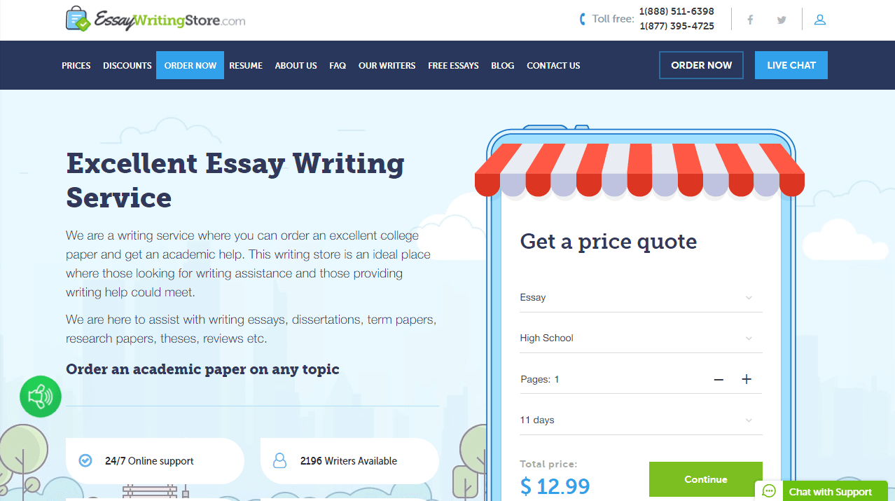 EssayWritingStore.com Review