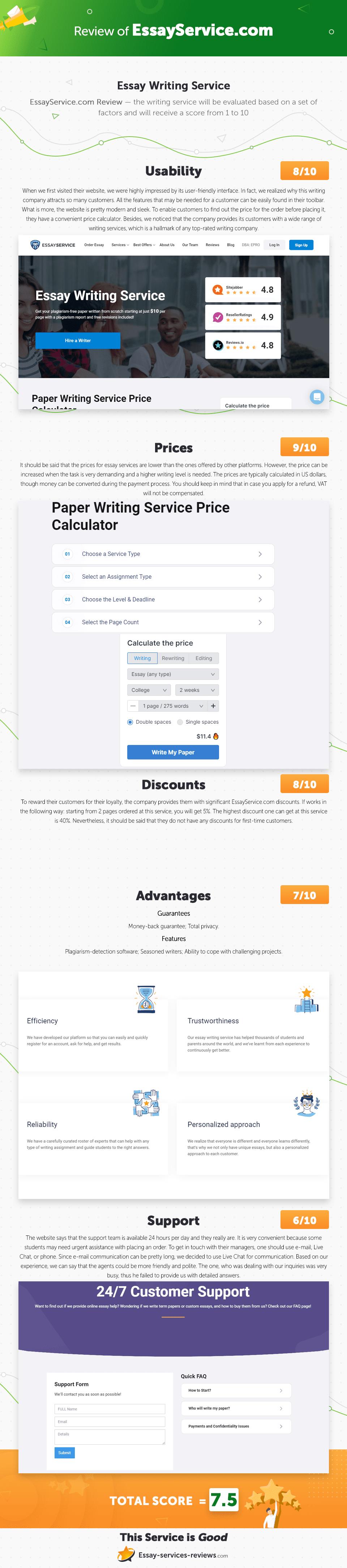 essayservice.com Infographic Review