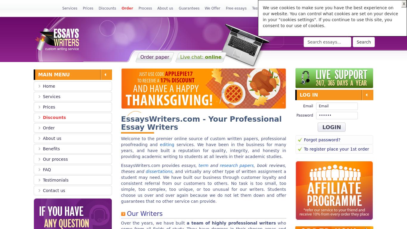 EssaysWriters.com Review